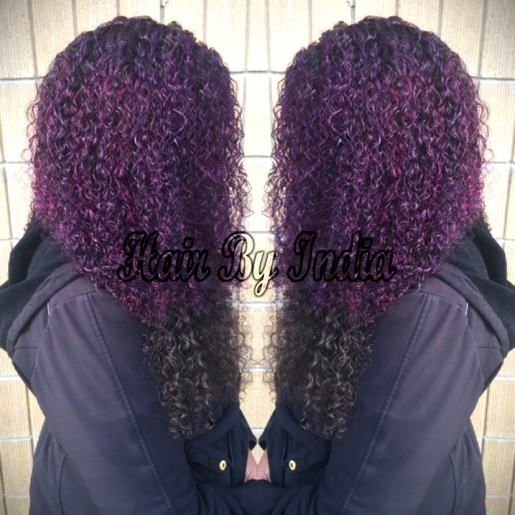 Purple Passion Custom Colored Sew In Weave With A Lace Closure